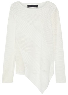 Proenza Schouler Woman Asymmetric Open-knit Sweater White
