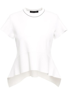 Proenza Schouler Woman Asymmetric Stretch-knit Peplum Top White