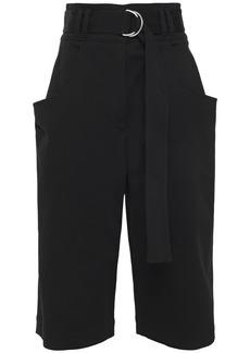 Proenza Schouler Woman Belted Cotton-blend Twill Shorts Black