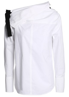 Proenza Schouler Woman Bow-detailed Cotton-poplin Top White