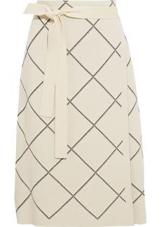 Proenza Schouler Woman Checked Jacquard-knit Skirt Beige