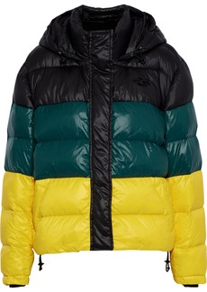 Proenza Schouler Woman Color-block Quilted Shell Hooded Coat Multicolor