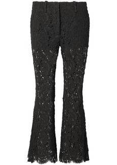 Proenza Schouler Woman Corded Lace Flared Pants Black