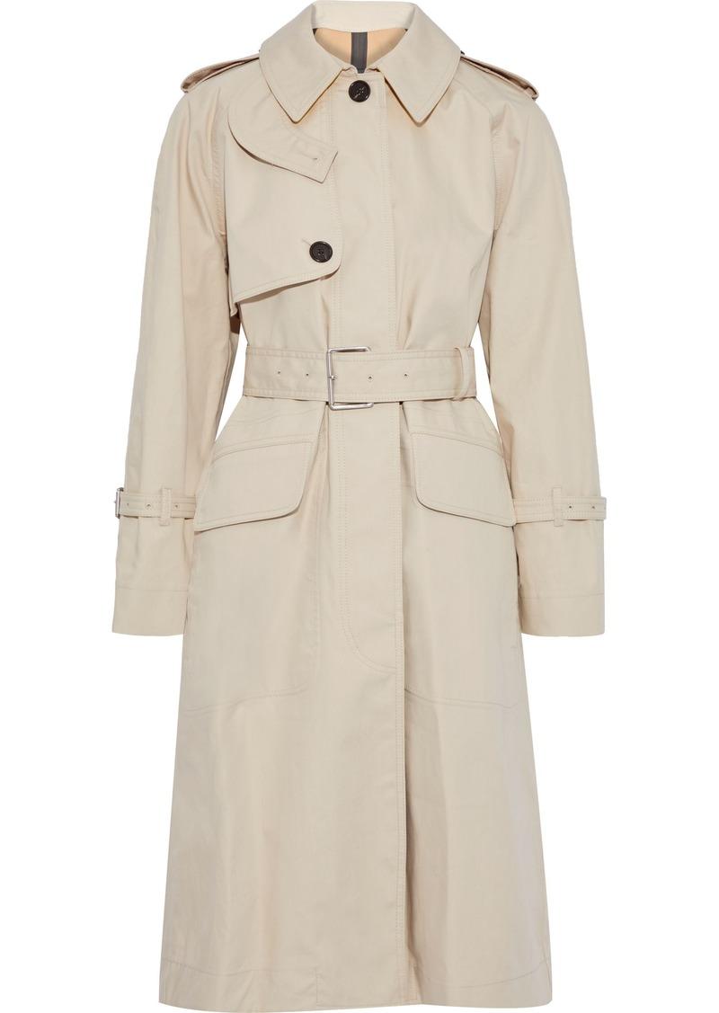 Proenza Schouler Woman Cotton-blend Gabardine Trench Coat Neutral