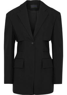 Proenza Schouler Woman Cotton-blend Twill Jacket Black