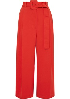 Proenza Schouler Woman Cropped Belted Canvas Wide-leg Pants Tomato Red