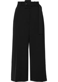 Proenza Schouler Woman Cropped Belted Canvas Wide-leg Pants Black