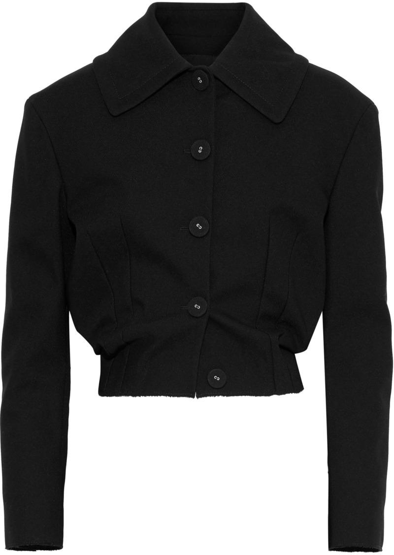 Proenza Schouler Woman Cropped Cotton-blend Twill Jacket Black