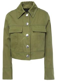 Proenza Schouler Woman Cropped Cotton-gabardine Jacket Leaf Green