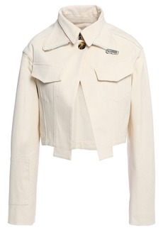 Proenza Schouler Woman Cropped Denim Jacket Ecru