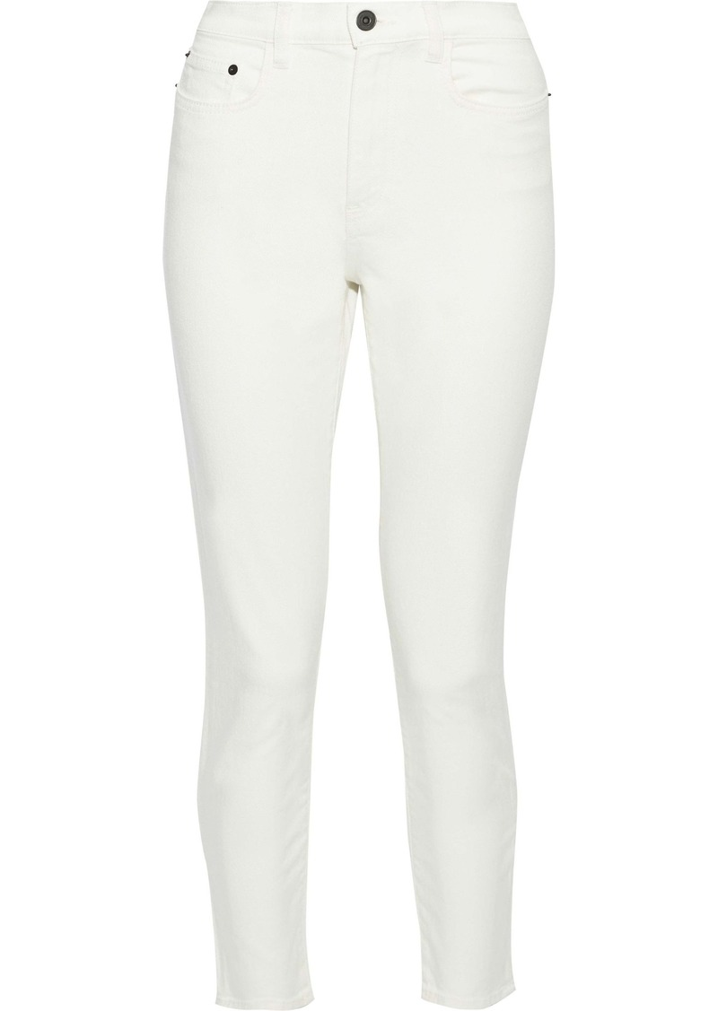 Proenza Schouler Woman Cropped High-rise Skinny Jeans Off-white