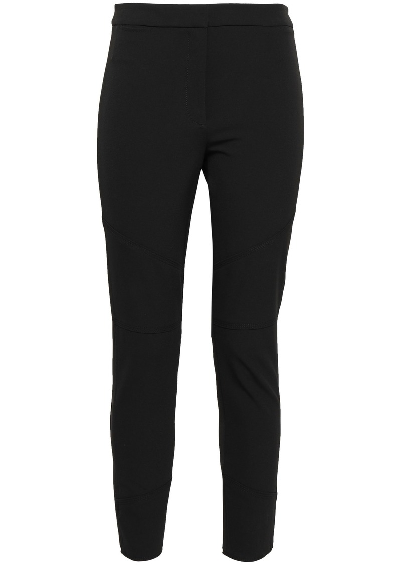 Proenza Schouler Woman Cropped Stretch-crepe Skinny Pants Black