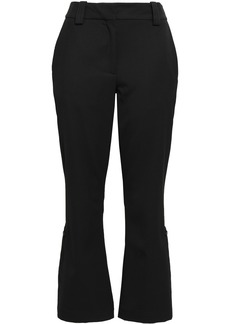 Proenza Schouler Woman Cropped Stretch-wool Twill Flared Pants Black