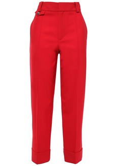 Proenza Schouler Woman Cropped Wool-blend Twill Tapered Pants Red
