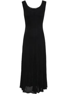 Proenza Schouler Woman Cutout Ribbed Jersey Midi Dress Black