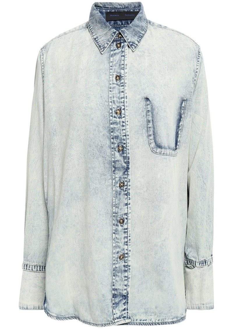 Proenza Schouler Woman Denim Shirt Light Denim