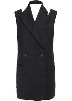 Proenza Schouler Woman Double-breasted Cutout Wool-blend Gabardine Vest Black