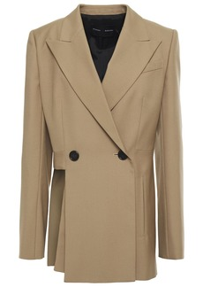 Proenza Schouler Woman Double-breasted Cutout Wool-blend Twill Blazer Light Brown