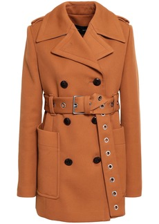 Proenza Schouler Woman Double-breasted Twill Coat Camel