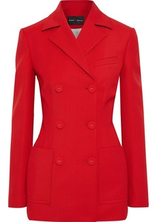 Proenza Schouler Woman Double-breasted Wool-blend Twill Blazer Red