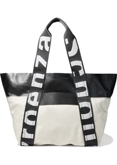 Proenza Schouler Woman East/west Leather And Canvas Tote Off-white