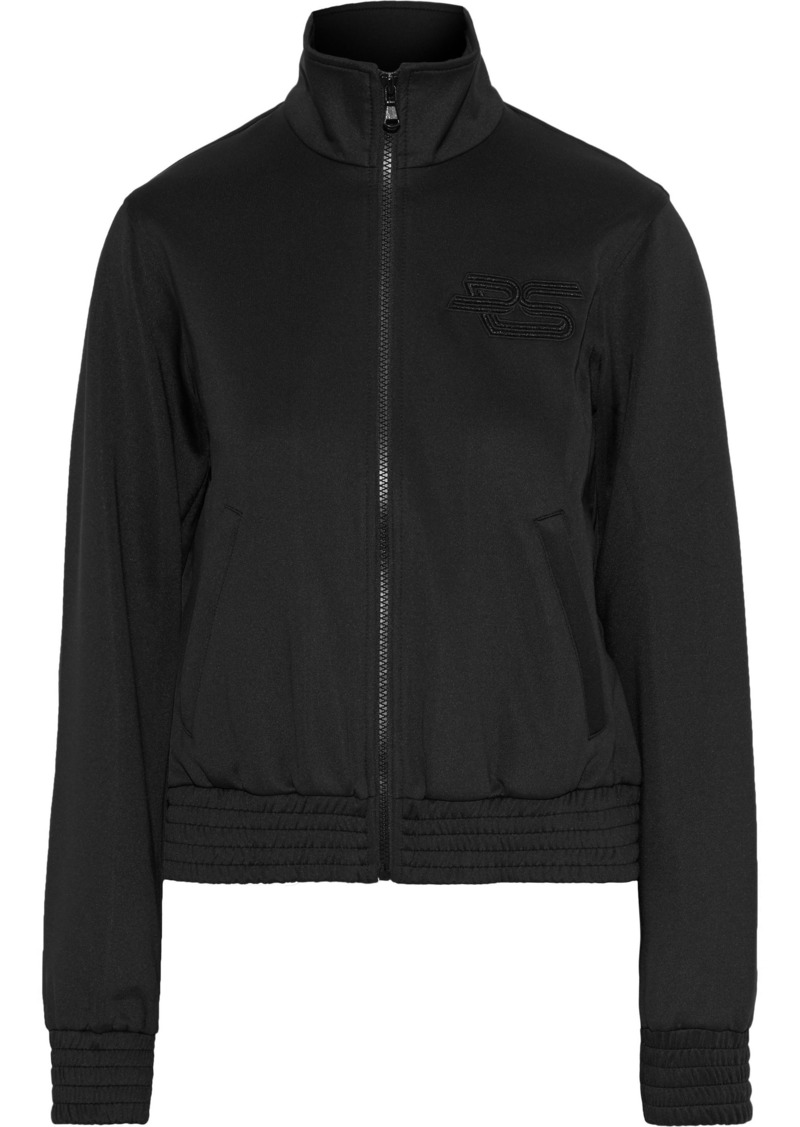 Proenza Schouler Woman Embroidered Stretch-jersey Jacket Black