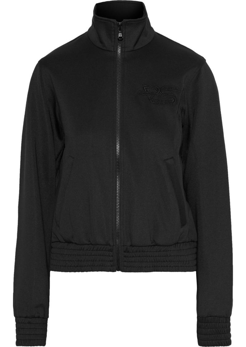 Proenza Schouler Woman Embroidered Stretch-jersey Sweatshirt Black