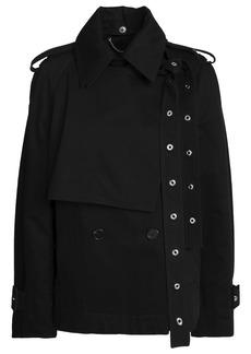 Proenza Schouler Woman Eyelet-embellished Cotton-gabardine Jacket Black