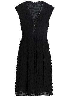 Proenza Schouler Woman Cotton And Fil Coupé Silk-blend Dress Black