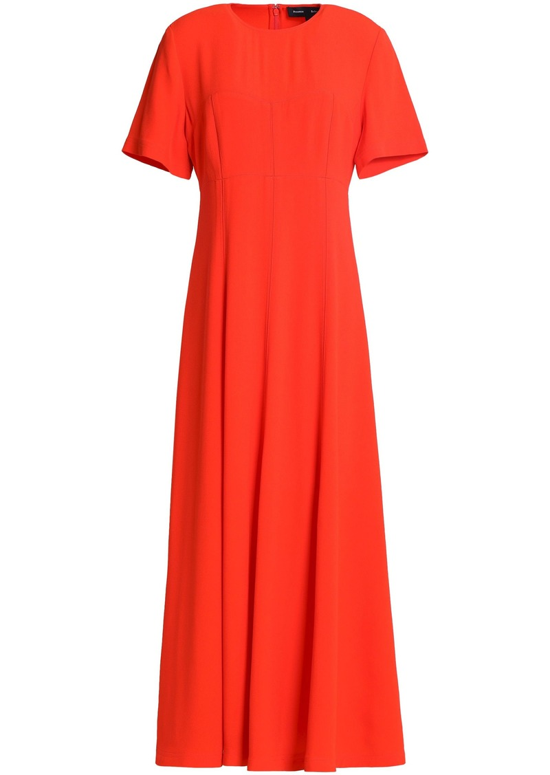 Proenza Schouler Woman Flared Crepe Midi Dress Bright Orange