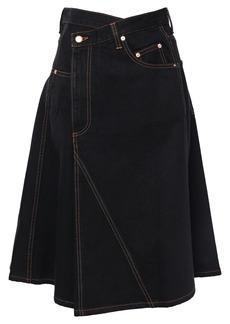 Proenza Schouler Woman Flared Denim Skirt Black