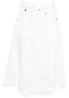 Proenza Schouler Woman Flared Denim Skirt White