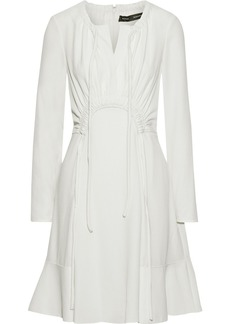 Proenza Schouler Woman Flared Ruched Crepe Mini Dress Ivory