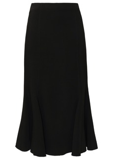 Proenza Schouler Woman Fluted Cady Midi Skirt Black
