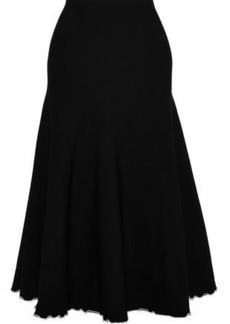 Proenza Schouler Woman Fluted Stretch-knit Midi Skirt Black