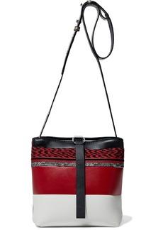 Proenza Schouler Woman Jacquard-paneled Leather Shoulder Bag Claret