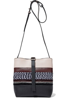 Proenza Schouler Woman Frame Patchwork Jacquard Smooth And Pebbled-leather Shoulder Bag Multicolor