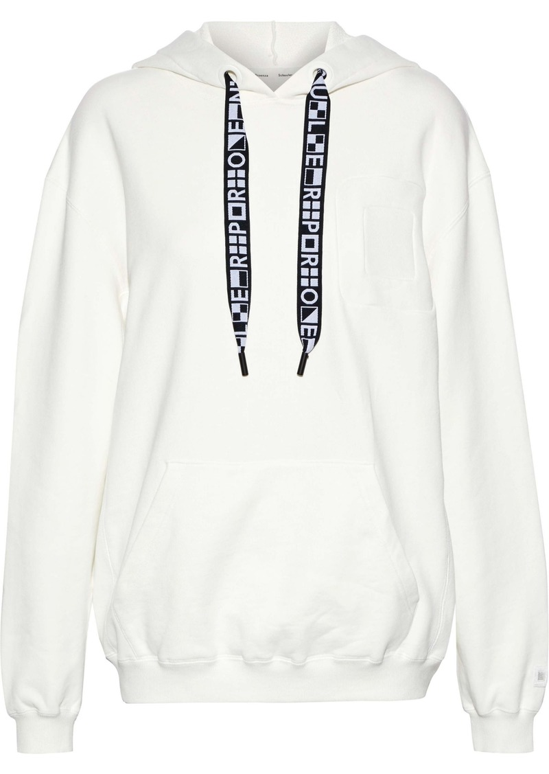 Proenza Schouler Woman French Cotton-terry Hoodie White