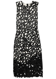 Proenza Schouler Woman Glossed Cotton-blend Lace And Crepe Dress Black