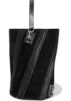 Proenza Schouler Woman Leather-trimmed Suede Tote Black