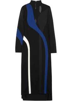 Proenza Schouler Woman Intarsia Knitted Turtleneck Maxi Dress Black
