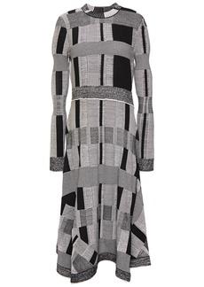 Proenza Schouler Woman Jacquard-knit Midi Dress Gray