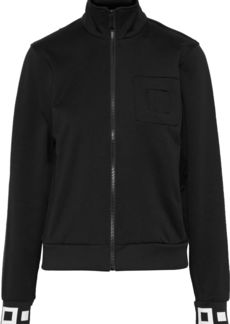 Proenza Schouler Woman Jacquard Knit-trimmed Embossed Scuba Track Jacket Black