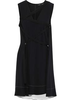 Proenza Schouler Woman Lace-up Crepe Mini Dress Black
