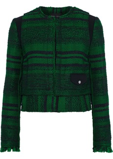 Proenza Schouler Woman Layered Bouclé-tweed Jacket Black