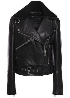 Proenza Schouler Woman Leather Biker Jacket Black