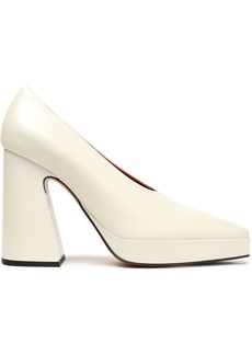 Proenza Schouler Woman Leather Platform Pumps Ivory