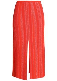 Proenza Schouler Woman Marled Knitted Midi Skirt Papaya