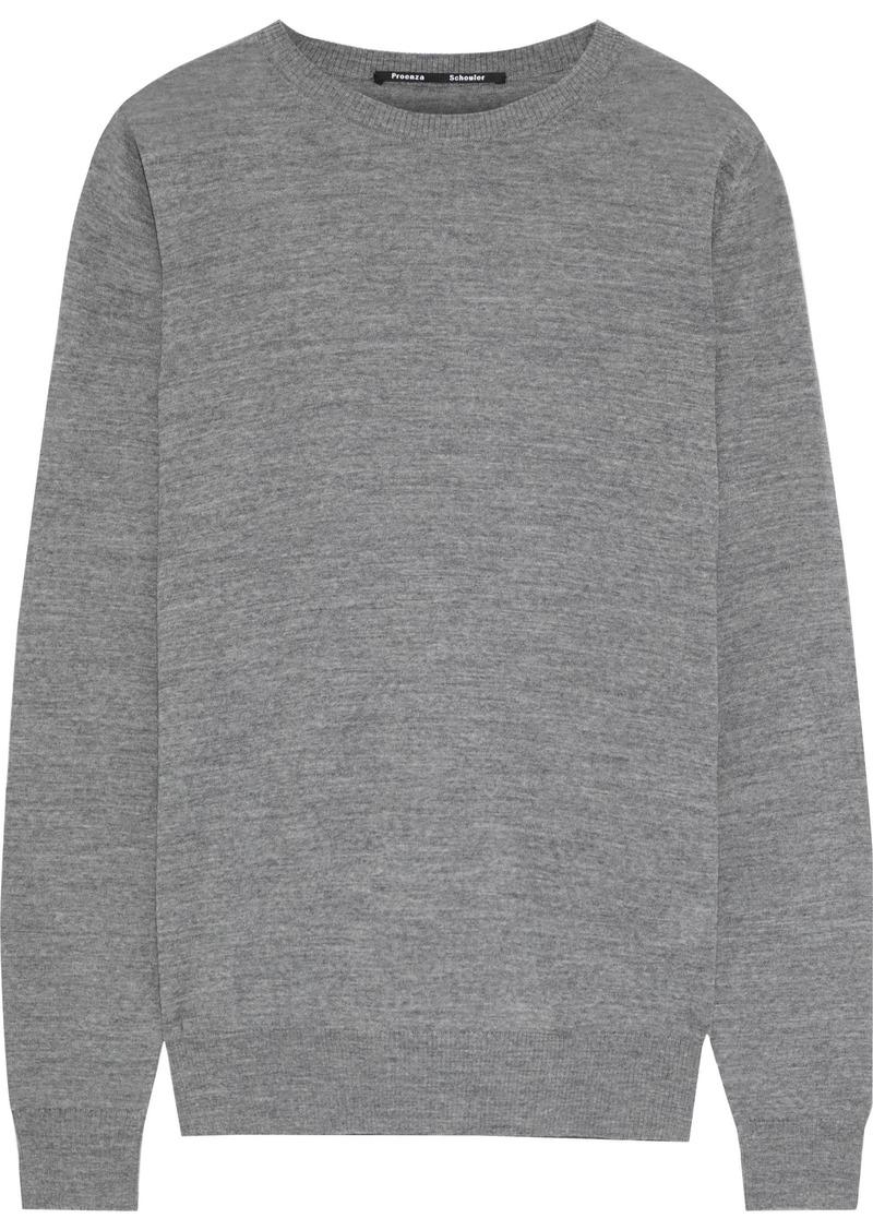 Proenza Schouler Woman Melangé Merino Wool Sweater Anthracite