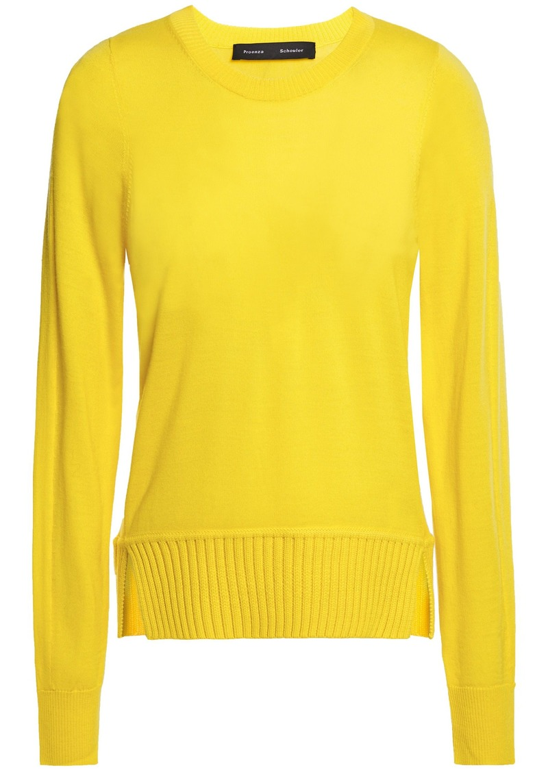 Proenza Schouler Woman Merino Wool Sweater Yellow